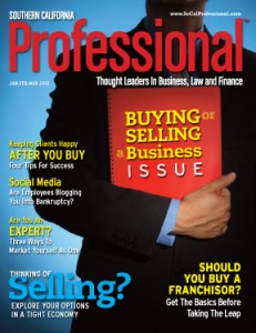 Southern California Professional Magazine Jan.Feb.Mar 2012 Cover