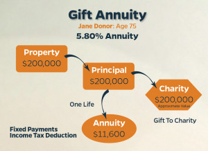 Illustration A: Charitable Gift Annuity Case Study